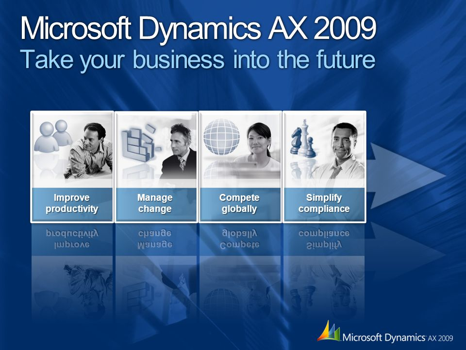 Microsoft Dynamics AX 2009 Take your business into the future