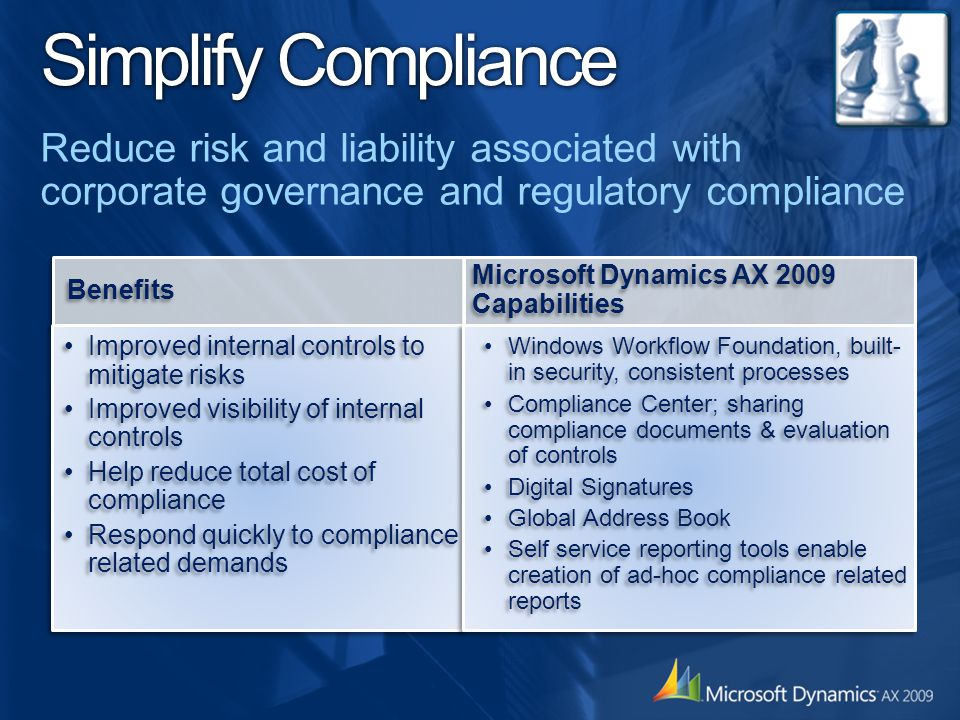 Simplify Compliance Reduce risk and liability associated with corporate governance and regulatory compliance.