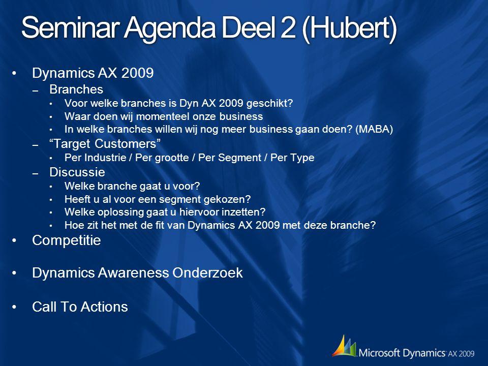 Seminar Agenda Deel 2 (Hubert)