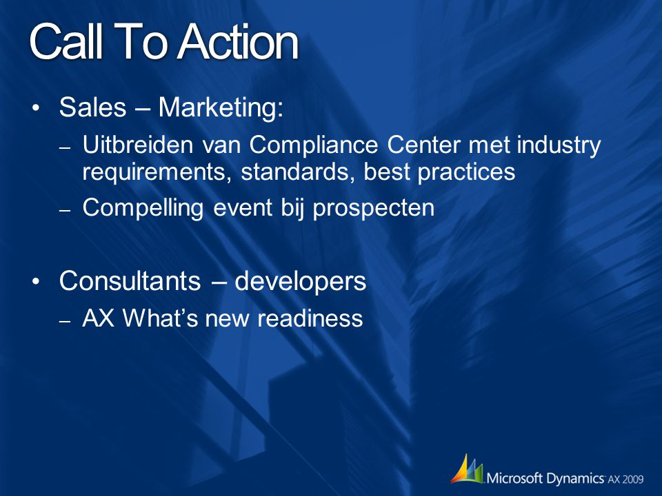 Call To Action Sales – Marketing: Consultants – developers