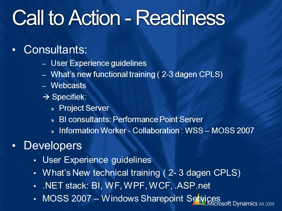 Call to Action - Readiness