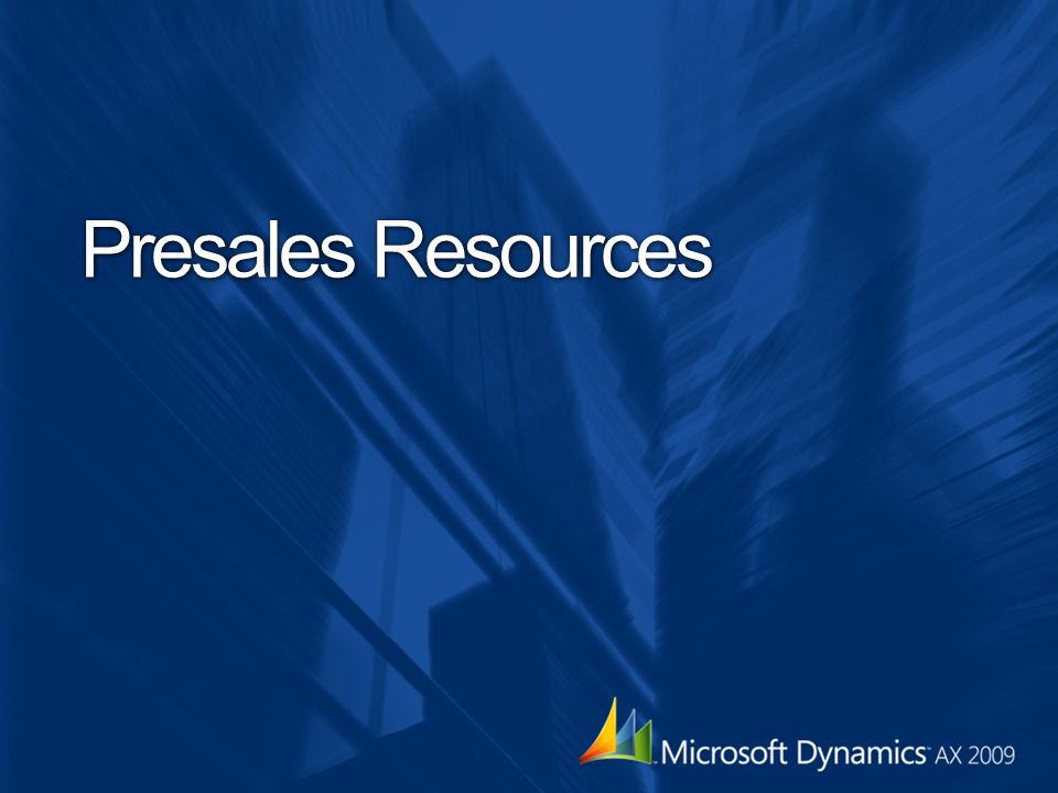 Presales Resources