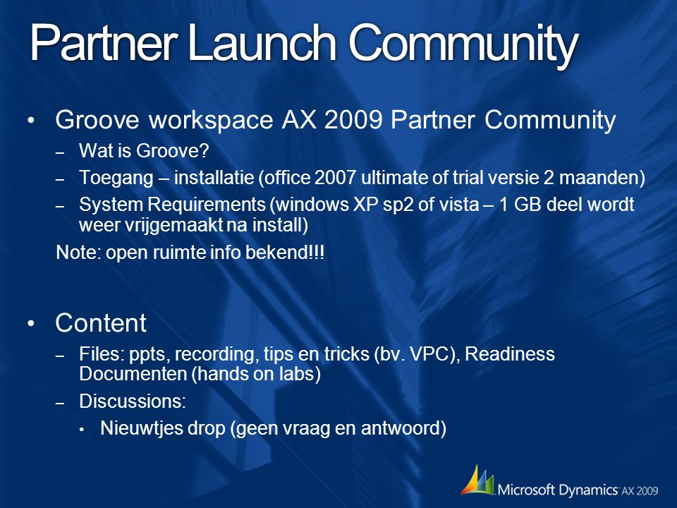 Partner Launch Community
