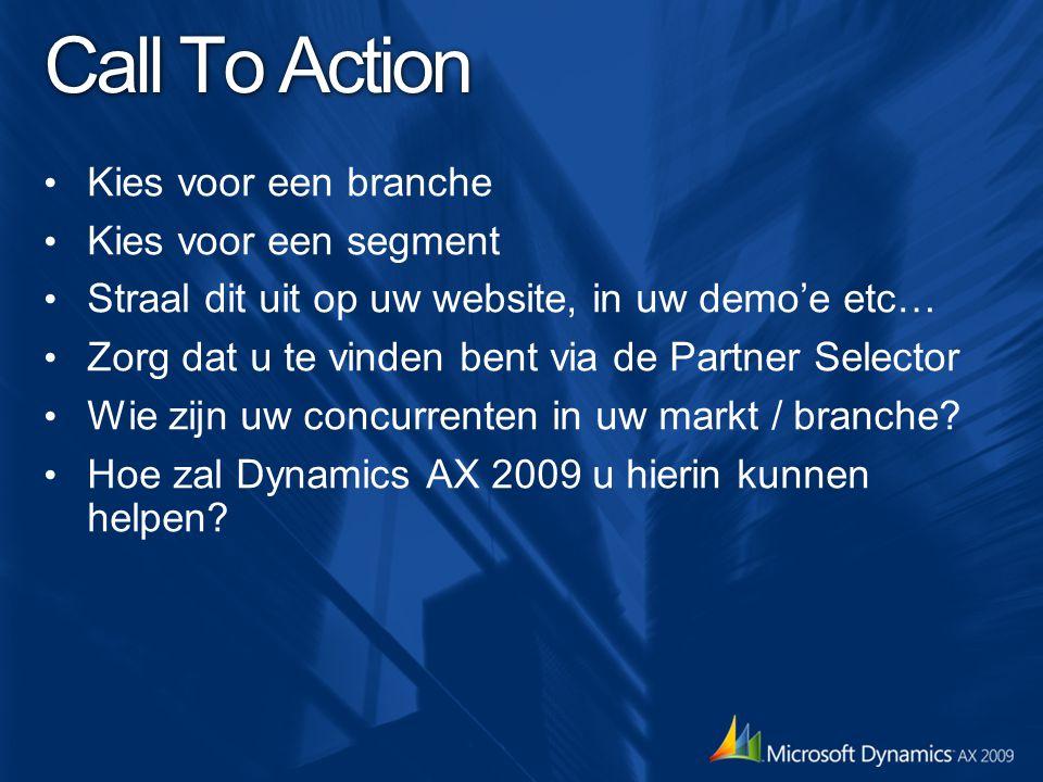 Call To Action Kies voor een branche Kies voor een segment