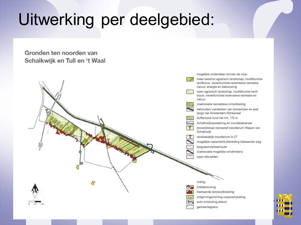 Uitwerking per deelgebied:
