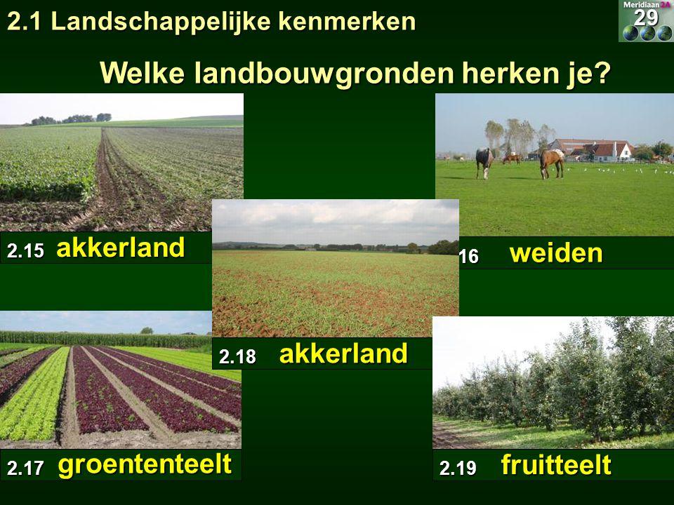 Welke landbouwgronden herken je