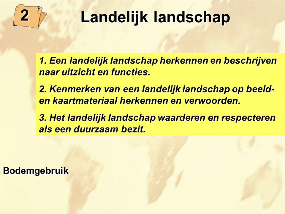 2 Landelijk landschap. 1. Een landelijk landschap herkennen en beschrijven naar uitzicht en functies.