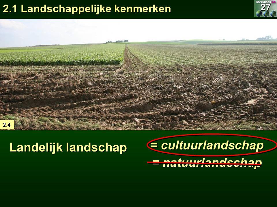 Landelijk landschap = cultuurlandschap = natuurlandschap