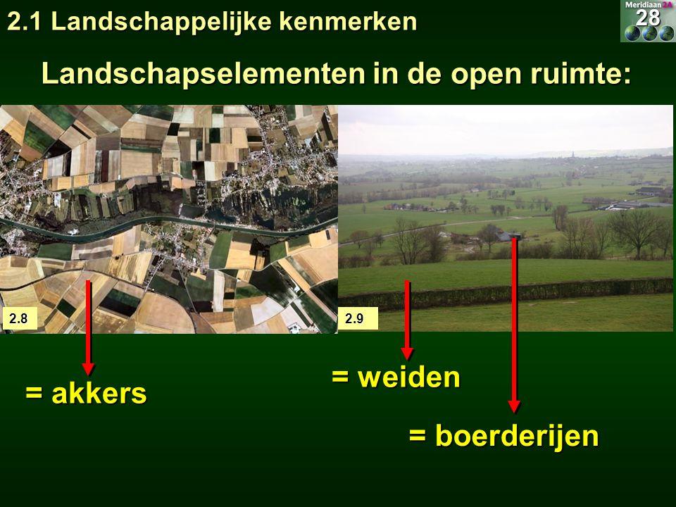 Landschapselementen in de open ruimte: