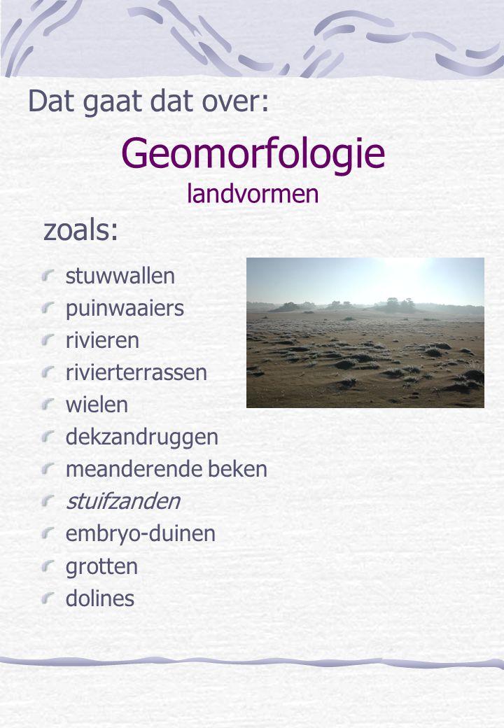 Geomorfologie landvormen