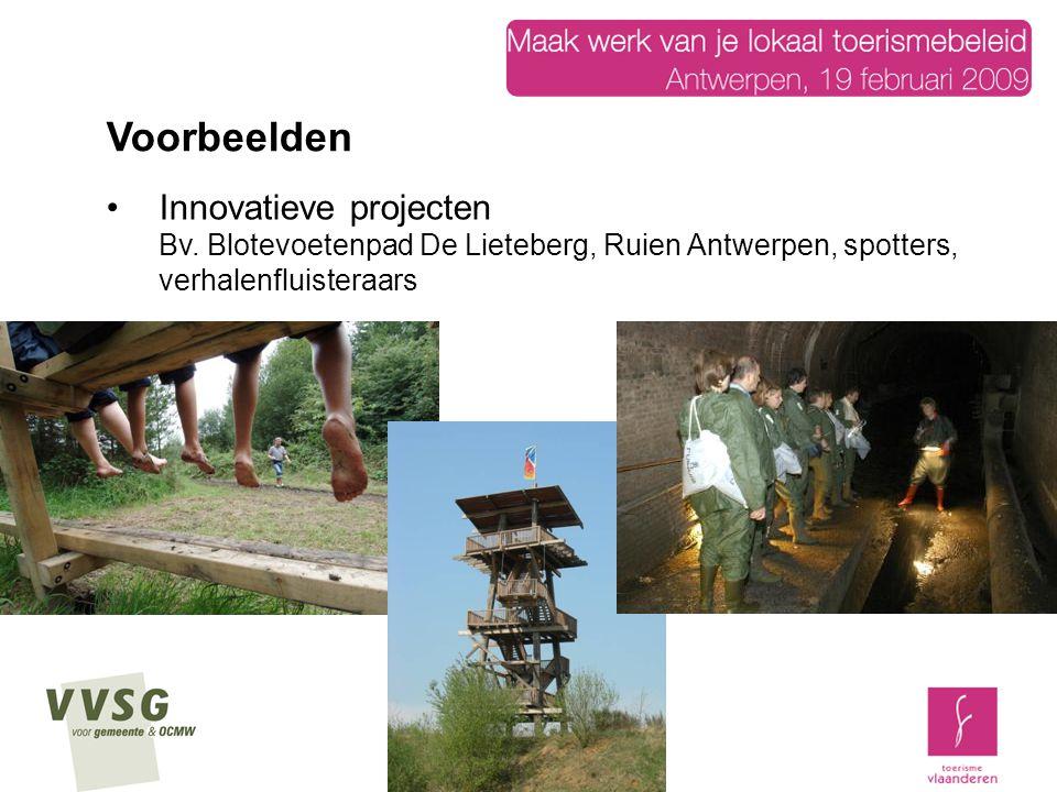 Voorbeelden Innovatieve projecten Bv.
