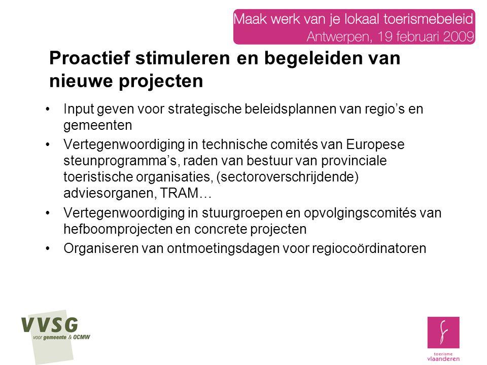 Proactief stimuleren en begeleiden van nieuwe projecten