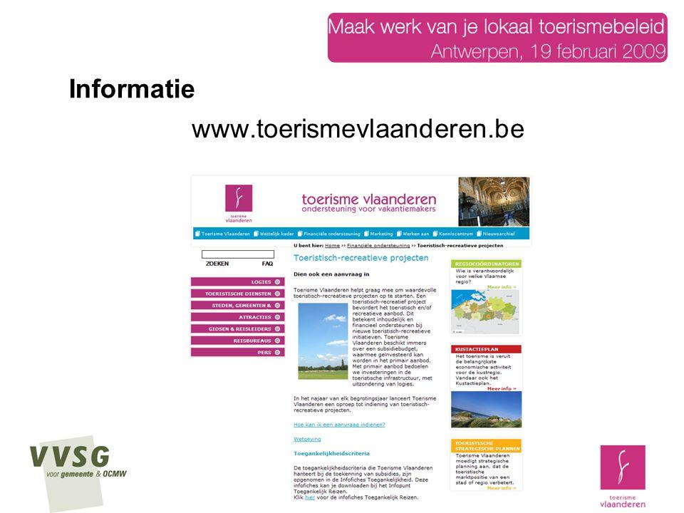 Informatie www.toerismevlaanderen.be