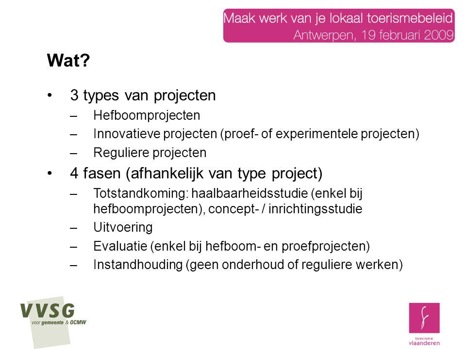 Wat 3 types van projecten 4 fasen (afhankelijk van type project)