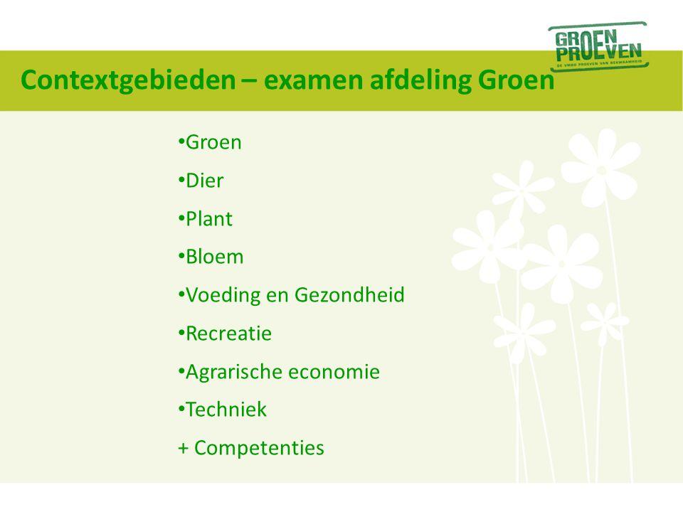 Contextgebieden – examen afdeling Groen