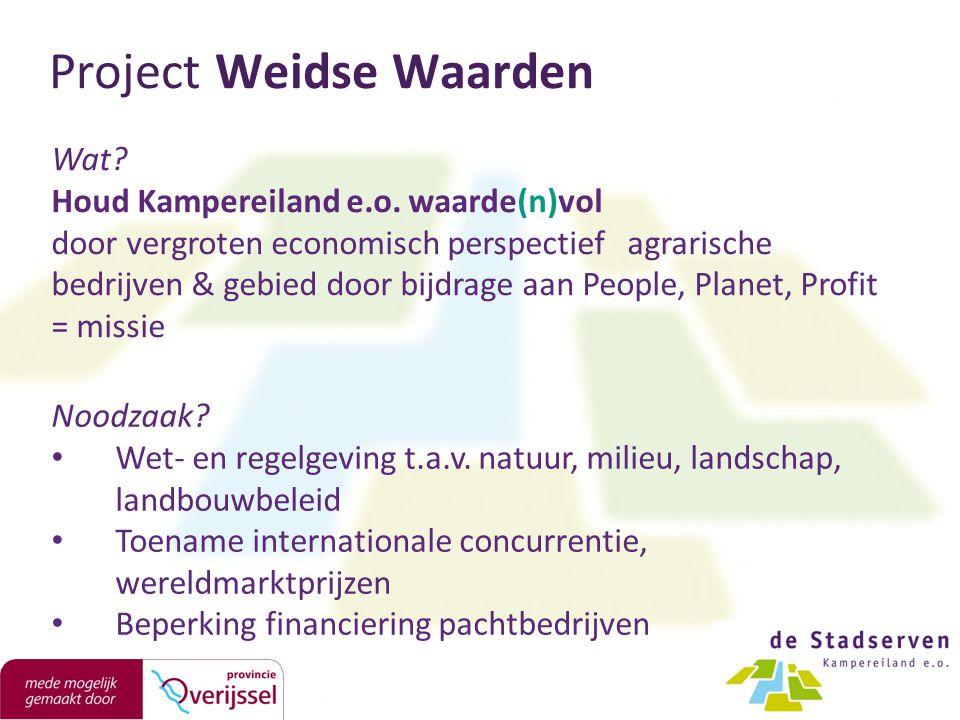 Project Weidse Waarden