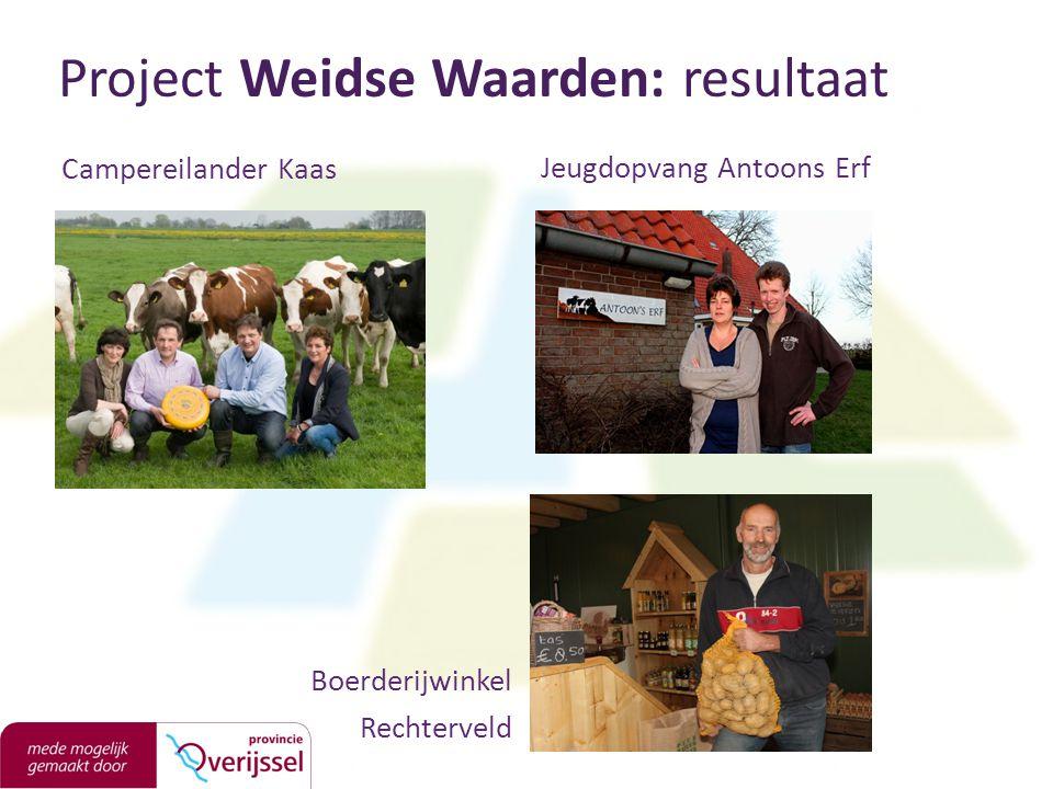 Project Weidse Waarden: resultaat