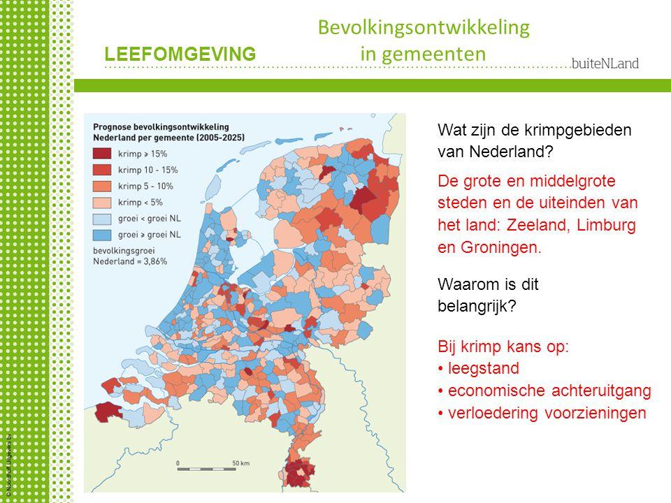 Bevolkingsontwikkeling in gemeenten