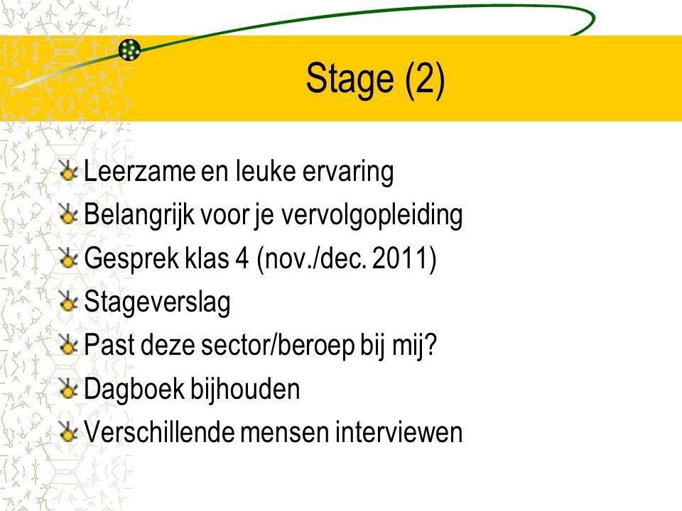 Stage (2) Leerzame en leuke ervaring