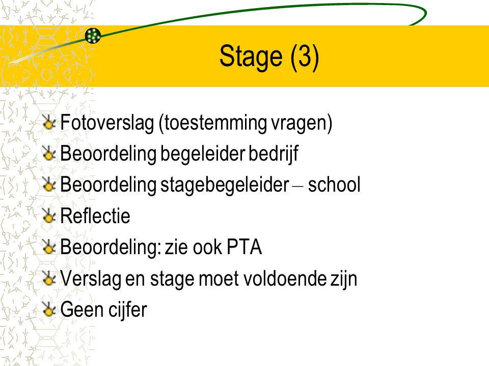 Stage (3) Fotoverslag (toestemming vragen)