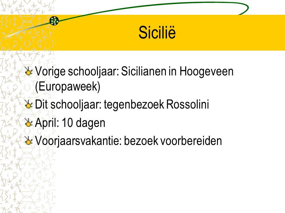 Sicilië Vorige schooljaar: Sicilianen in Hoogeveen (Europaweek)