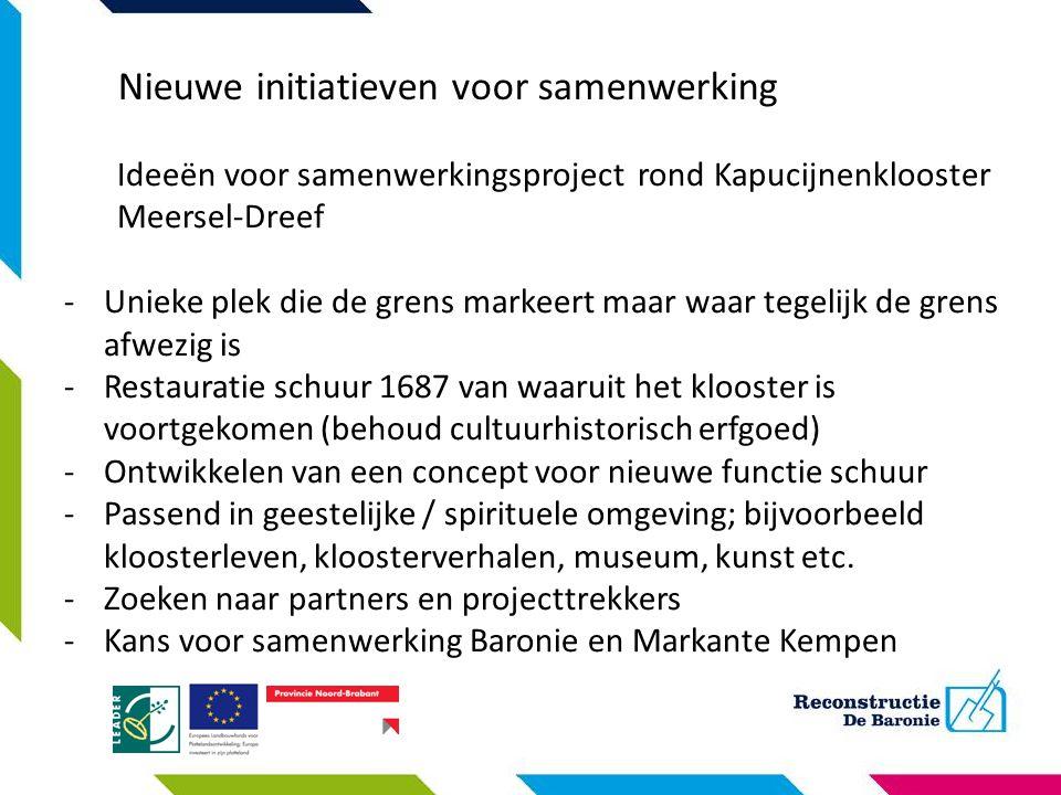 Nieuwe initiatieven voor samenwerking