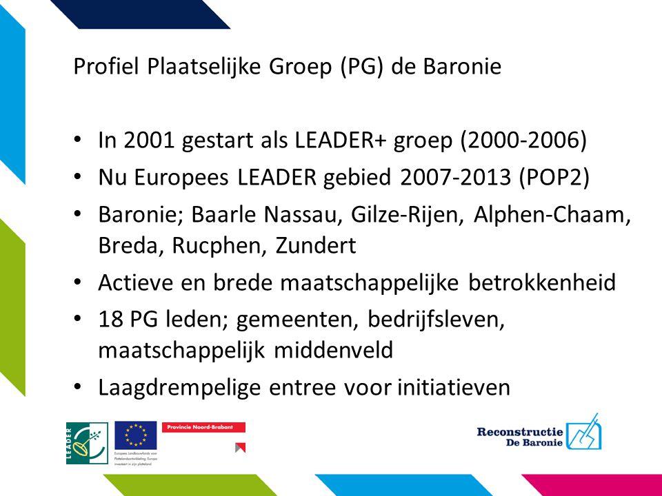 Profiel Plaatselijke Groep (PG) de Baronie