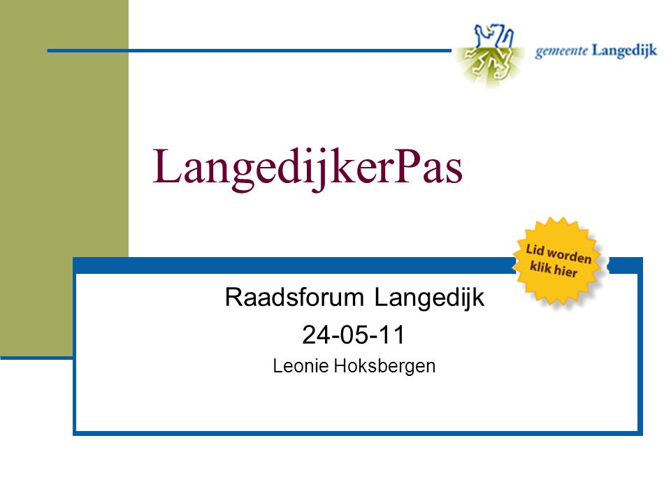 Raadsforum Langedijk 24-05-11 Leonie Hoksbergen