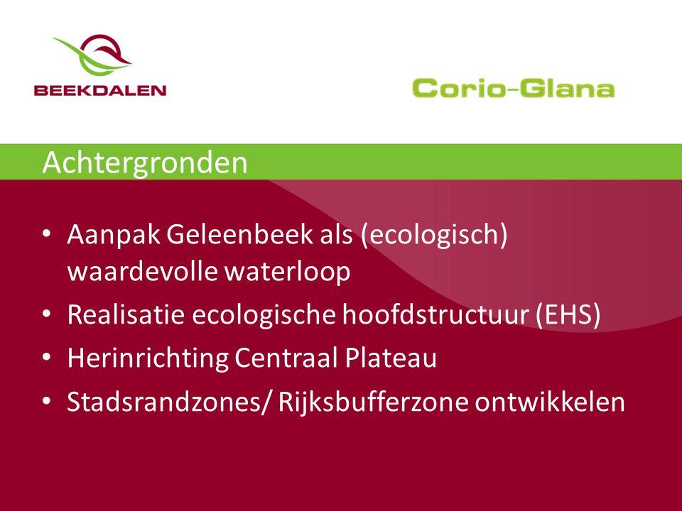 Achtergronden Aanpak Geleenbeek als (ecologisch) waardevolle waterloop
