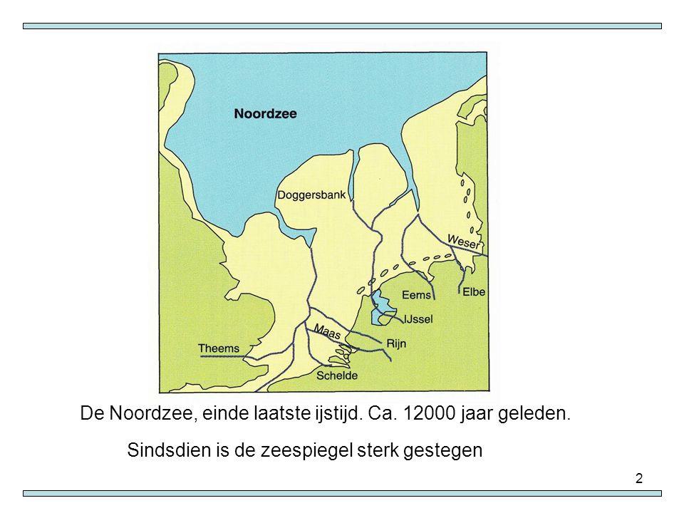 De Noordzee, einde laatste ijstijd. Ca. 12000 jaar geleden.