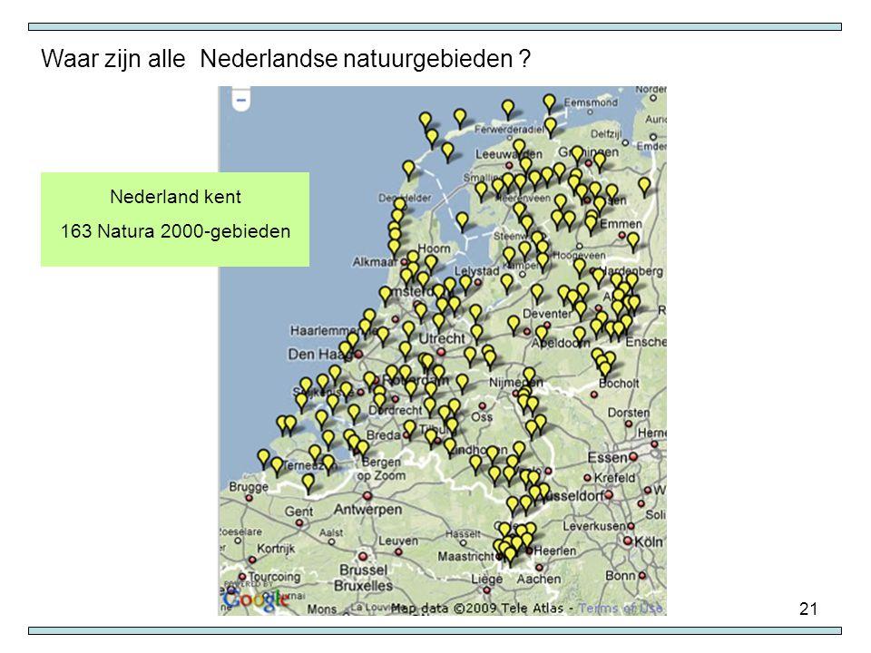 Waar zijn alle Nederlandse natuurgebieden