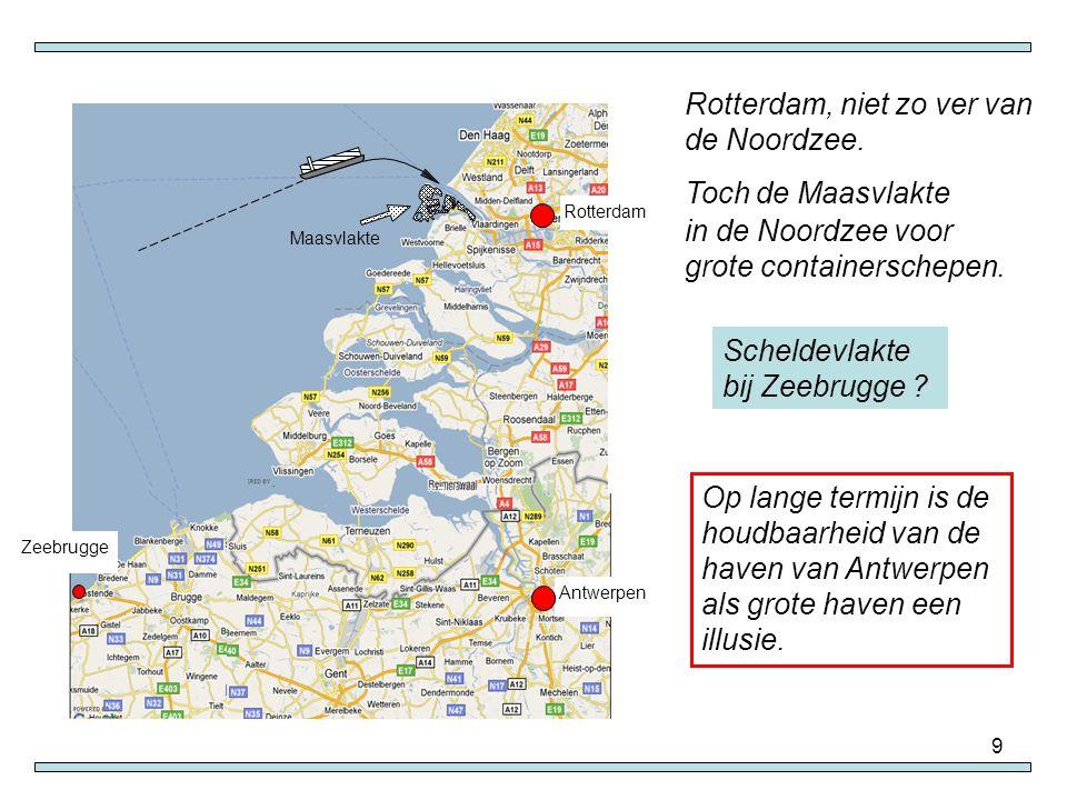Rotterdam, niet zo ver van de Noordzee. Toch de Maasvlakte