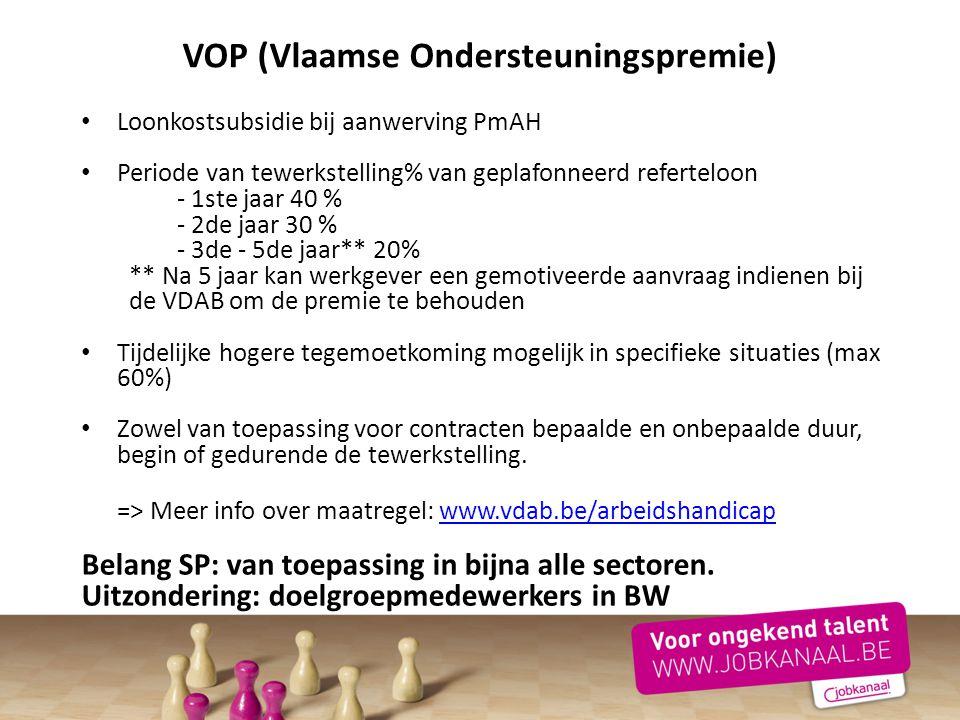 VOP (Vlaamse Ondersteuningspremie)