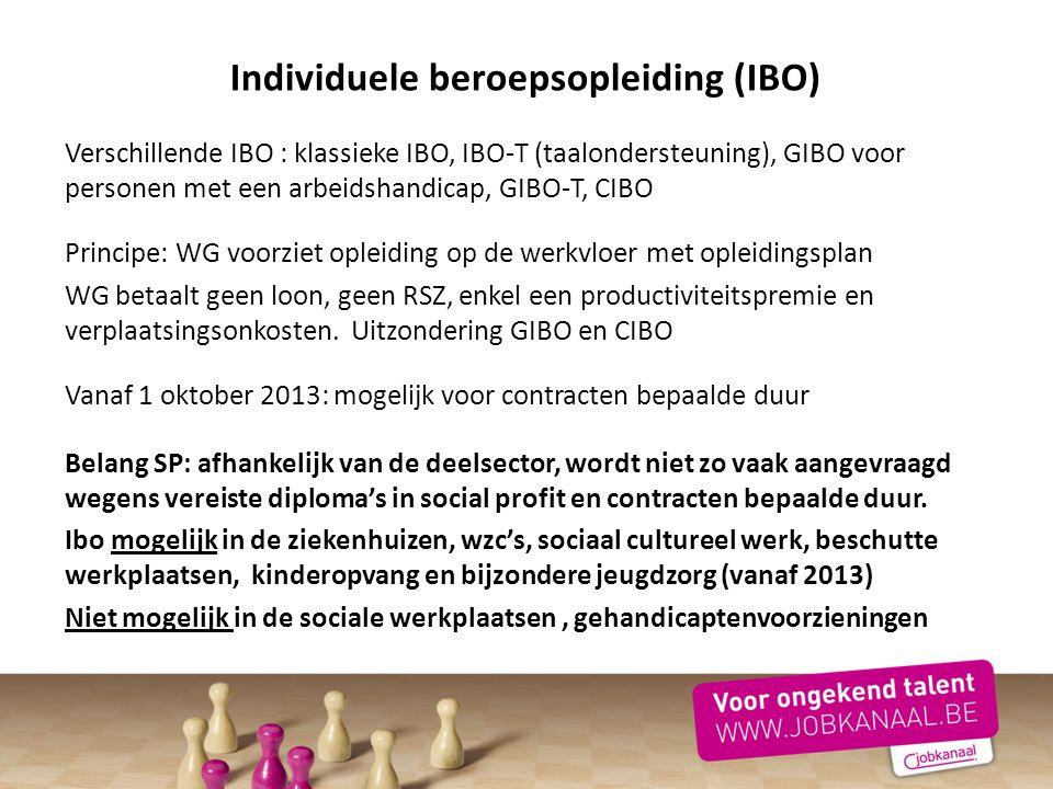 Individuele beroepsopleiding (IBO)