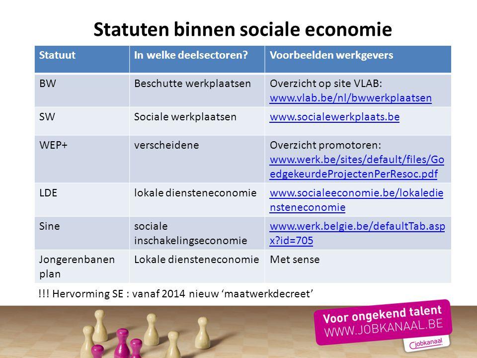 Statuten binnen sociale economie