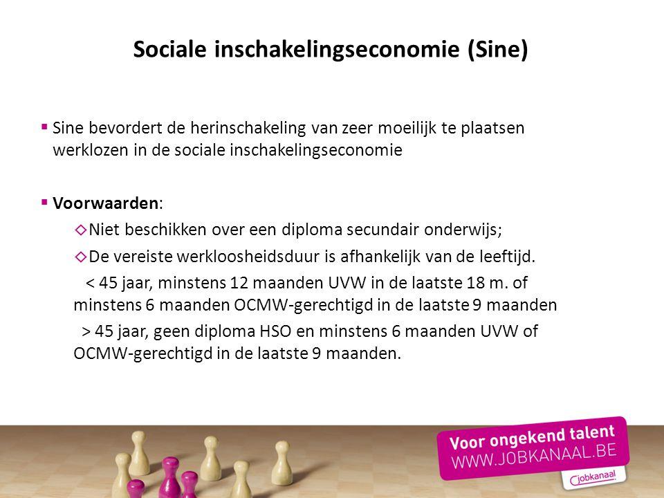 Sociale inschakelingseconomie (Sine)