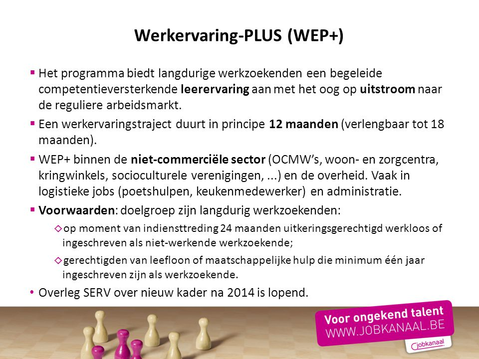 Werkervaring-PLUS (WEP+)