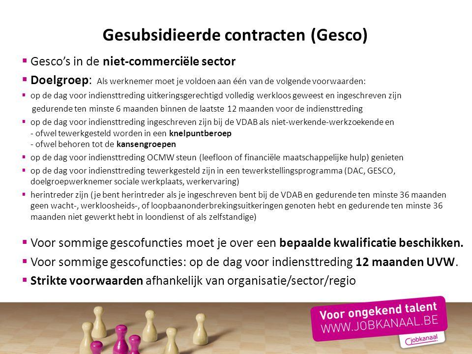 Gesubsidieerde contracten (Gesco)
