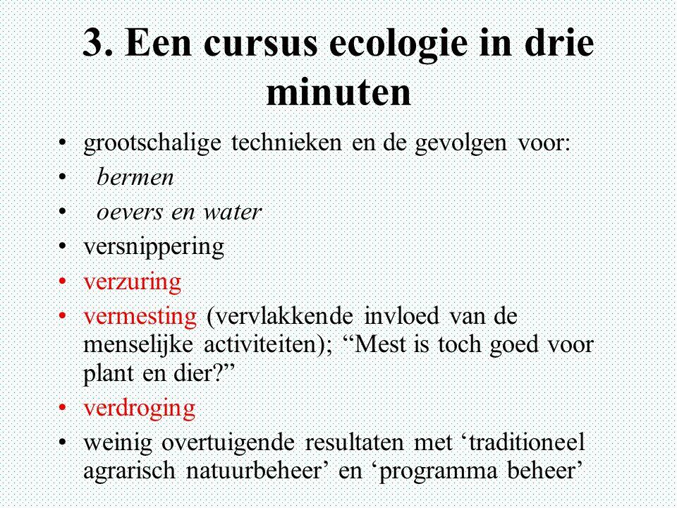 3. Een cursus ecologie in drie minuten
