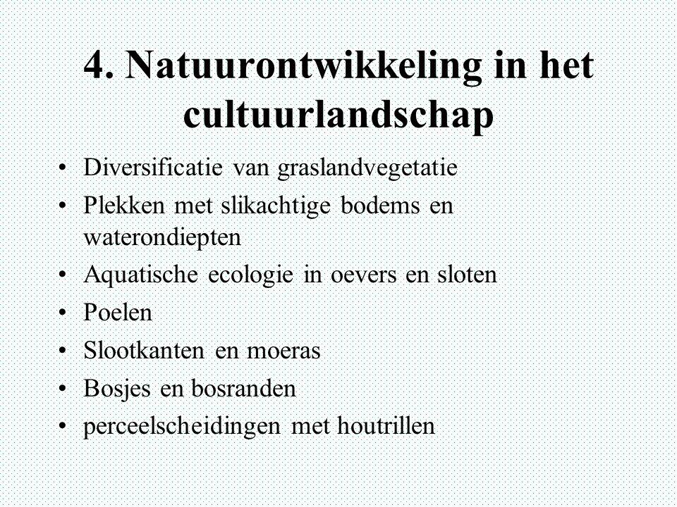 4. Natuurontwikkeling in het cultuurlandschap