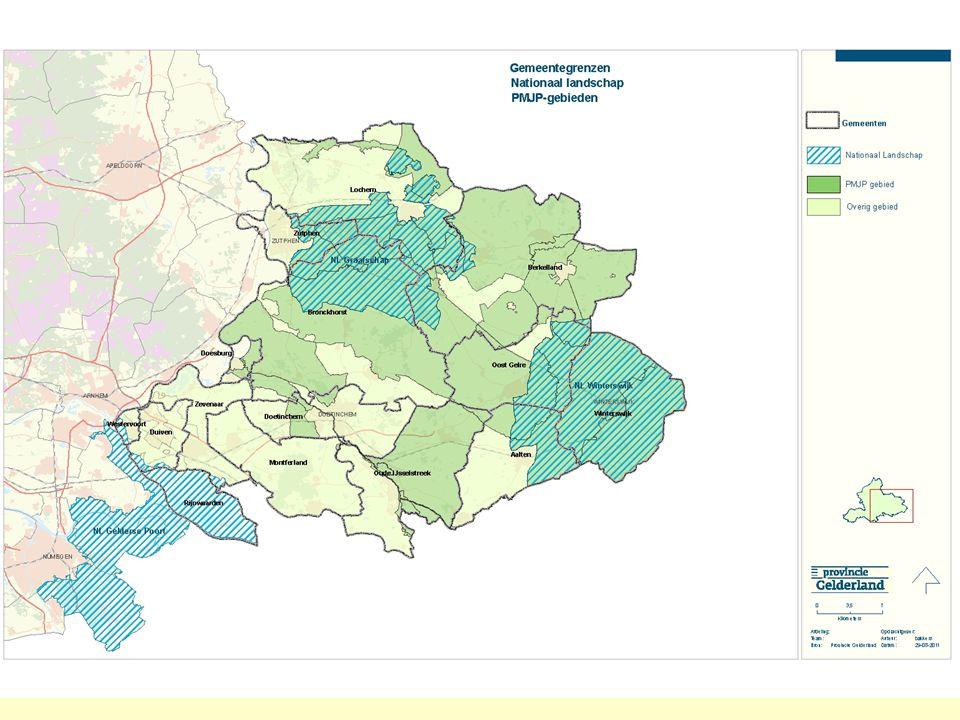 Prioritaire gebieden en de nationale landschappen