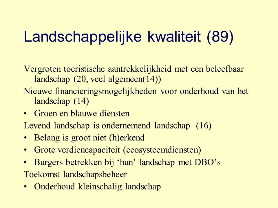 Landschappelijke kwaliteit (89)