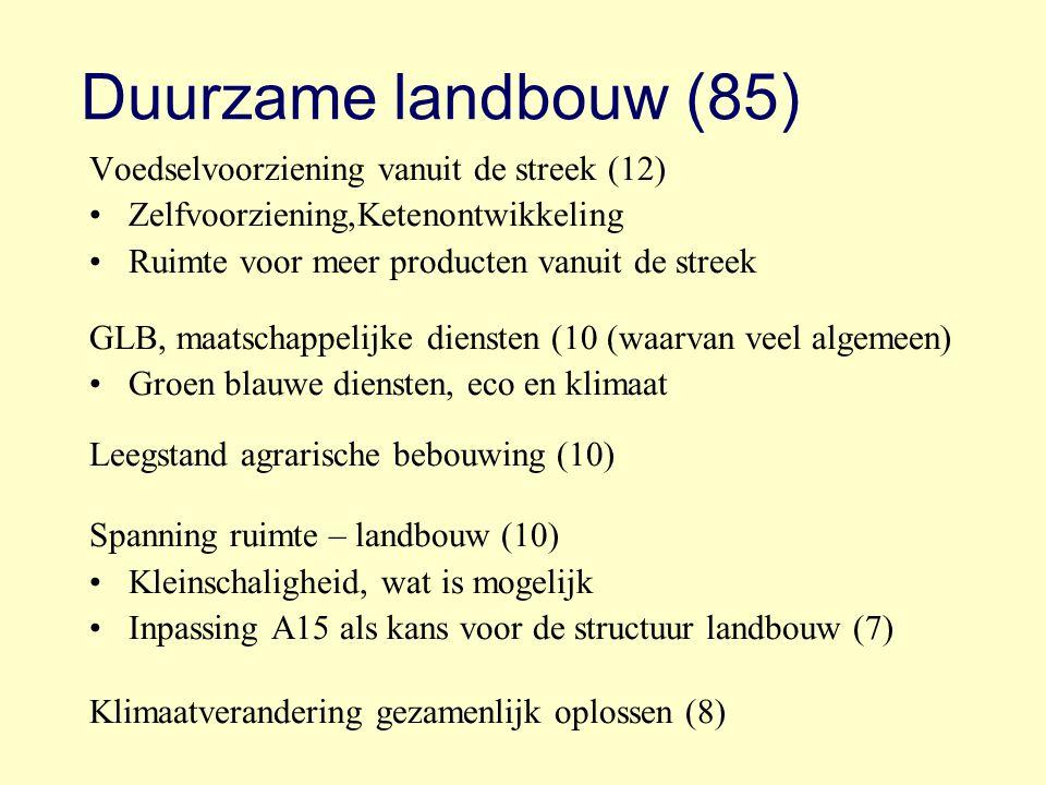 Duurzame landbouw (85) Voedselvoorziening vanuit de streek (12)
