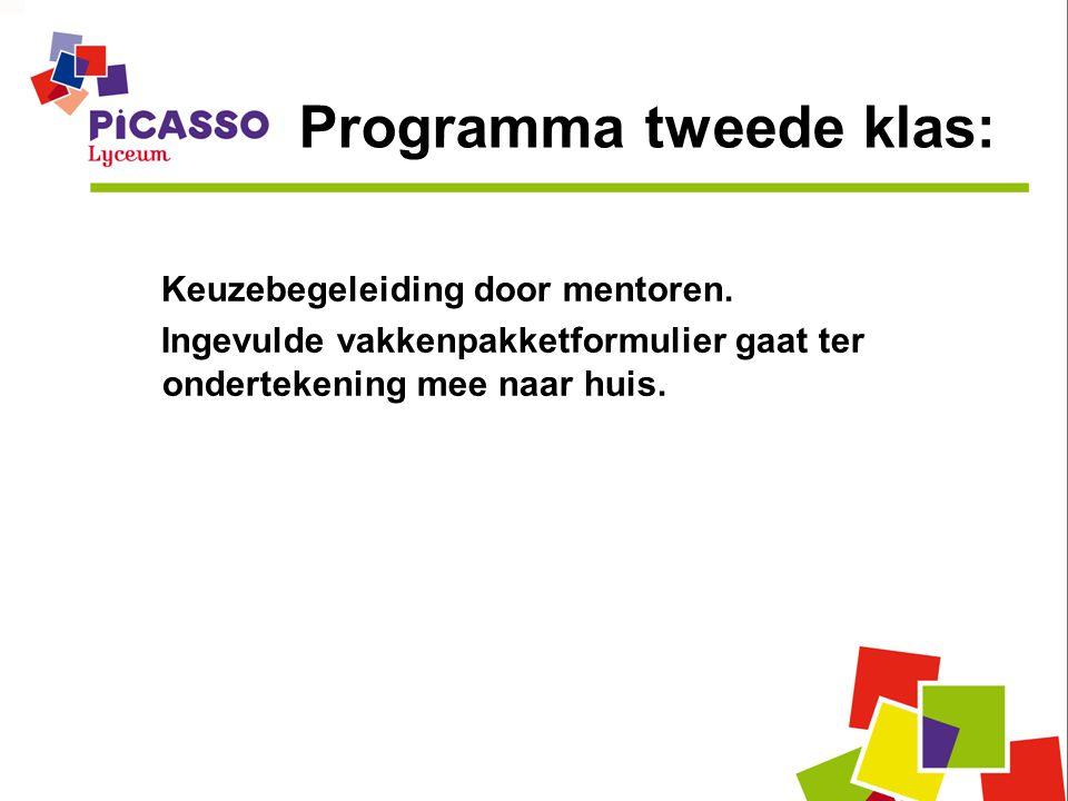 Programma tweede klas: