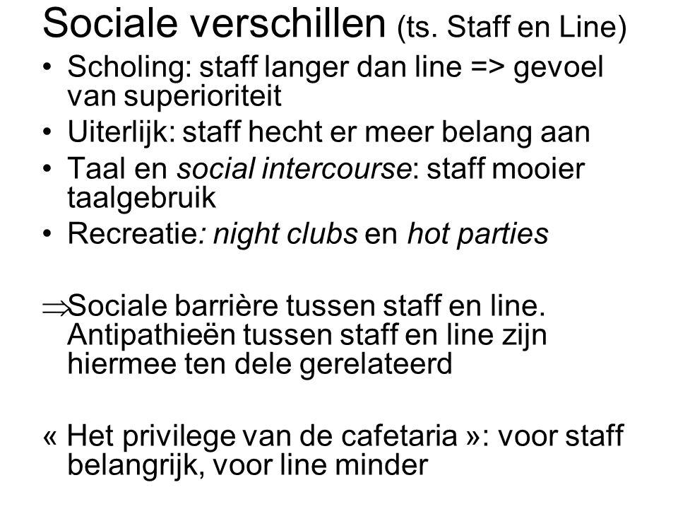 Sociale verschillen (ts. Staff en Line)