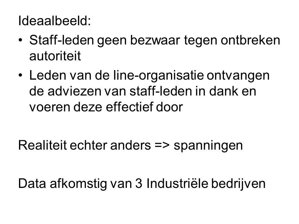 Ideaalbeeld: Staff-leden geen bezwaar tegen ontbreken autoriteit.