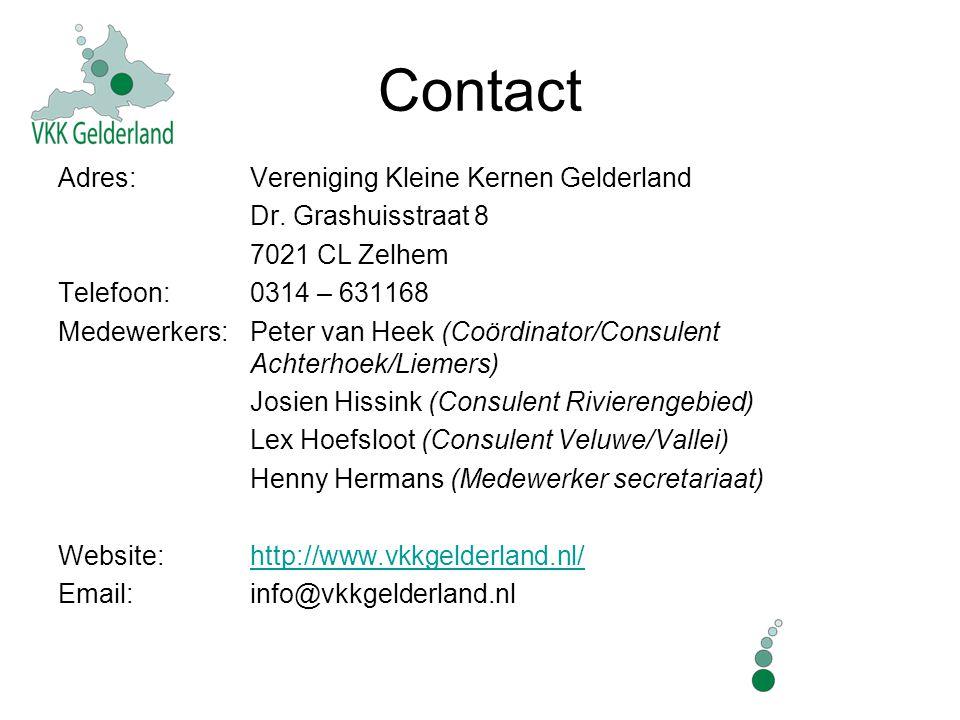 Contact Adres: Vereniging Kleine Kernen Gelderland