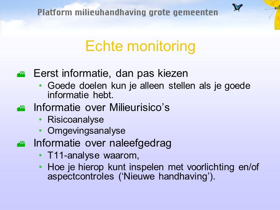 Echte monitoring Eerst informatie, dan pas kiezen