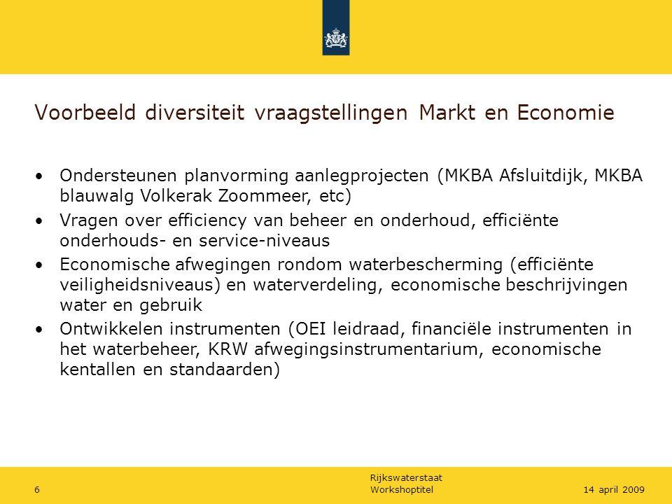 Voorbeeld diversiteit vraagstellingen Markt en Economie