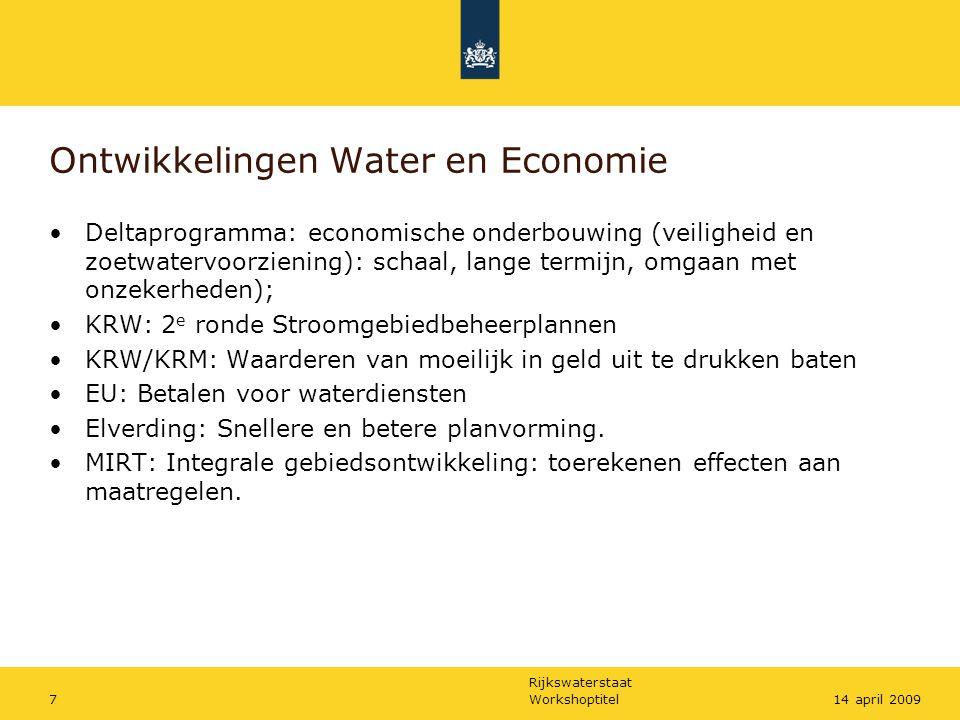 Ontwikkelingen Water en Economie